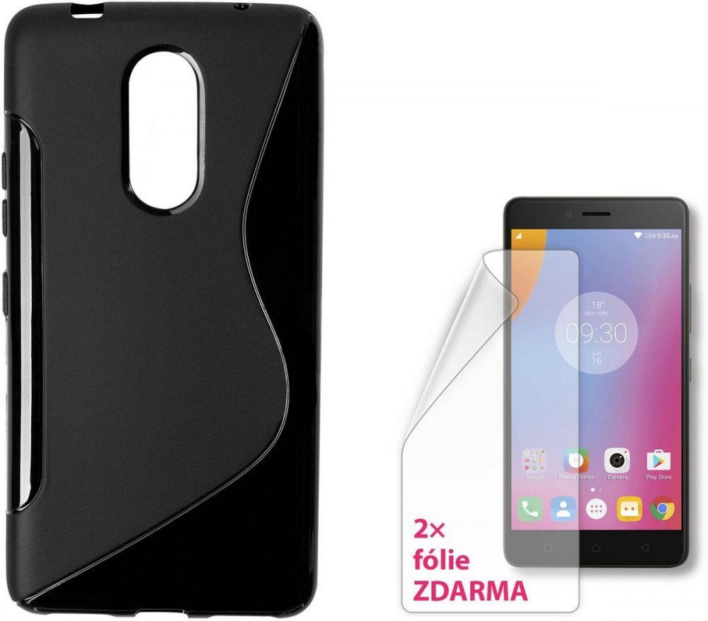 CONNECT IT S-COVER PRO LENOVO K6 NOTE CERNE + 2KS OCHRANNE FOLIE, UTERKA