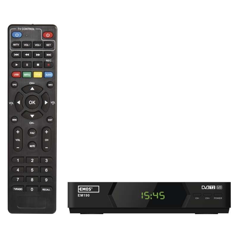 EMOS J6012 SET-TOP BOX EM 190 HD HEVC H265 (DVB-T2)