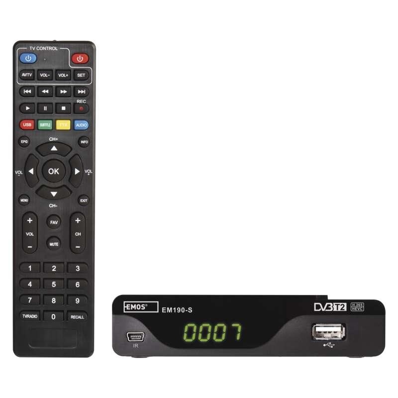 EMOS J6014 SET-TOP BOX EM190-S HD HEVC H265 (DVB-T2)