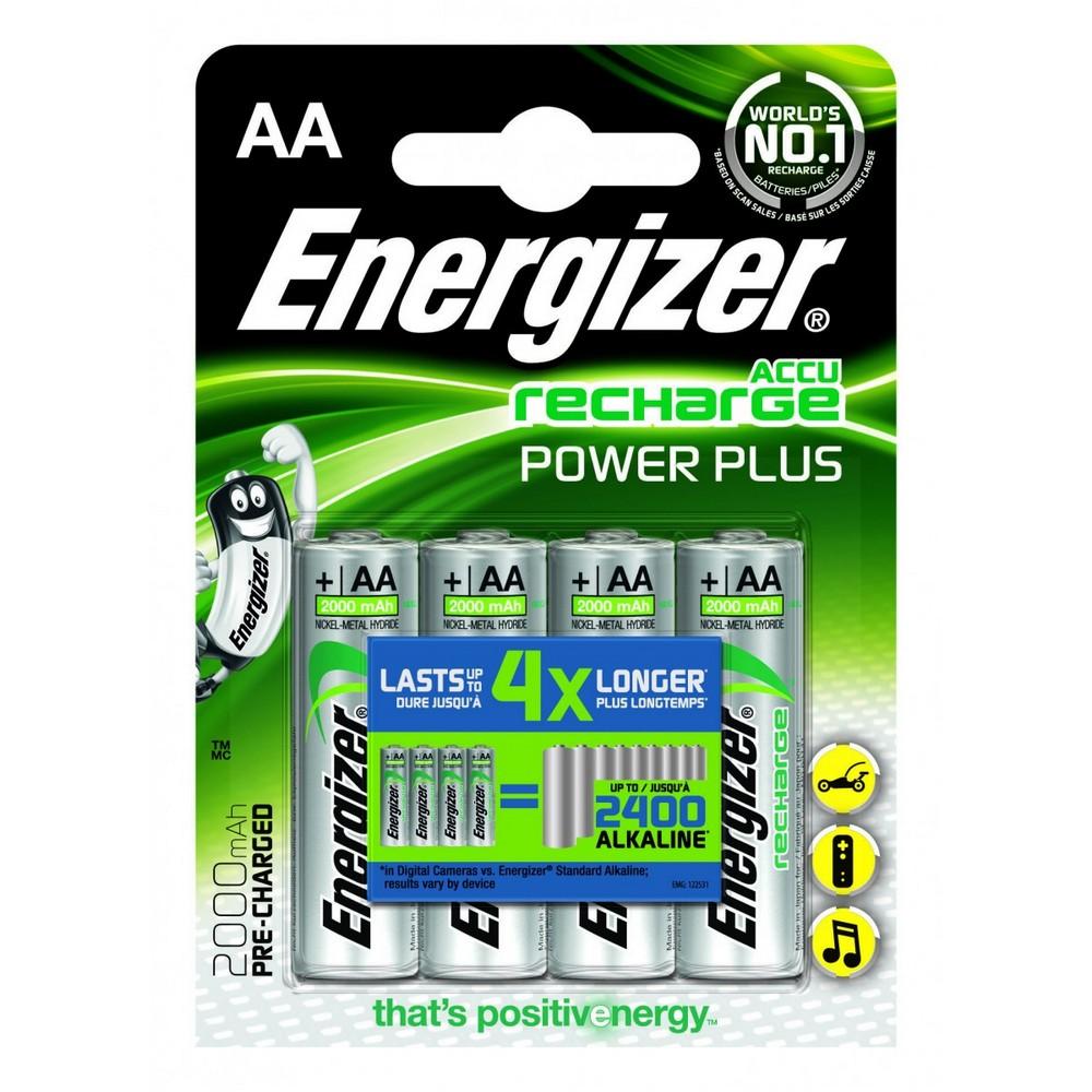 ENERGIZER NABIJACIE BATERIE POWER PLUS AA (HR6 - 2000 MAH), 4KS