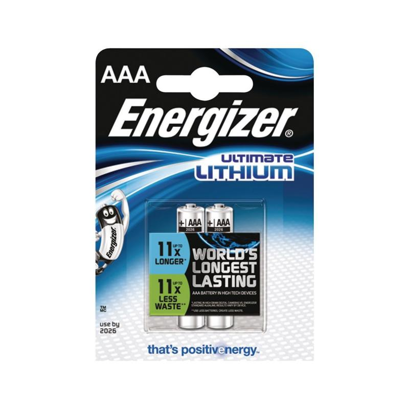 ENERGIZER ULTIMATE LITHIUM AAA 2KS, BLISTER, FR03