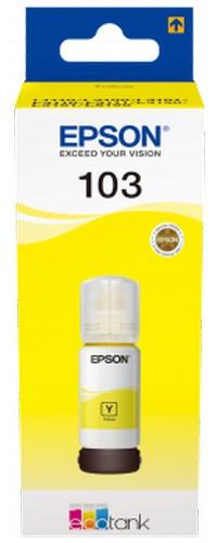 EPSON ORIGINAL INK C13T00S44A, 103, YELLOW, 65ML, EPSON ECOTANK