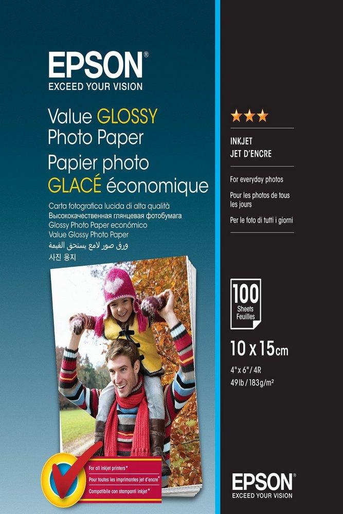 EPSON VALUE GLOSSY FOTOPAPIER 10X15 183G/M2 (100 LISTOV) (C13S400039)