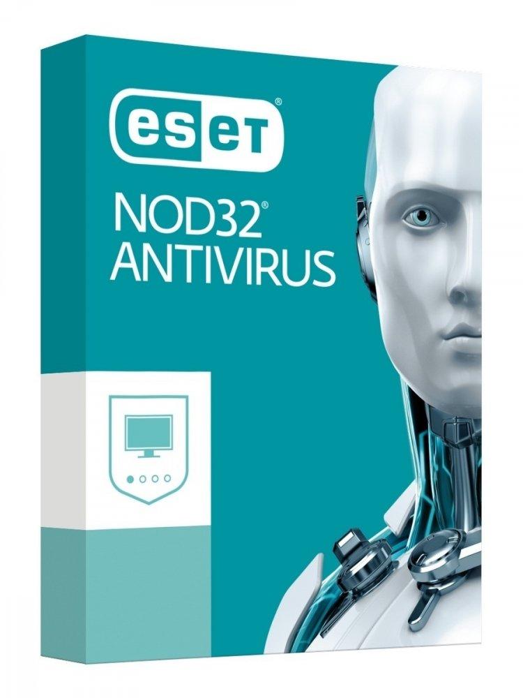 ESET NOD32 ANTIVIRUS PRE 2 PC NA 1 ROK - KRABICOVA VERZIA, NOD32-AV-2PC-1Y-BOX-2020