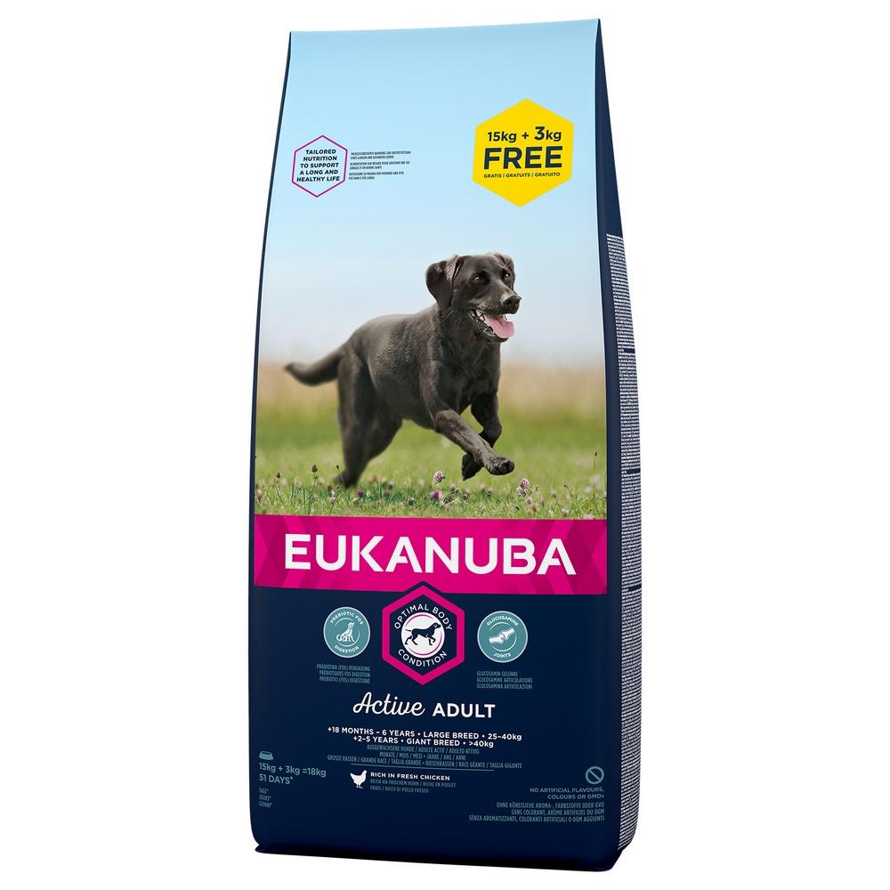 EUKANUBA ADULT LARGE 15+3 KG