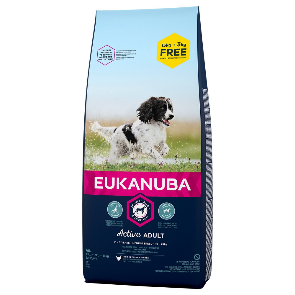 EUKANUBA ADULT MEDIUM 15+3 KG