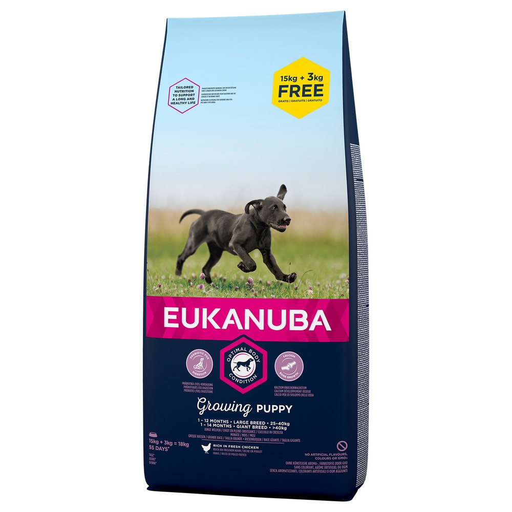EUKANUBA PUPPY AND JUNIOR LARGE 15+3 KG