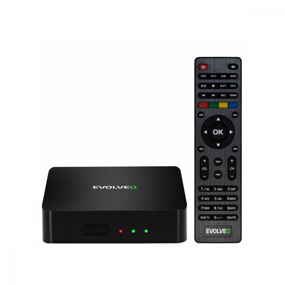 EVOLVEO HYBRID BOX T2, ANDROID & DVB-T2 MULTIMEDIALNY CENTRUM,USB,HDMI,BT,WiFi