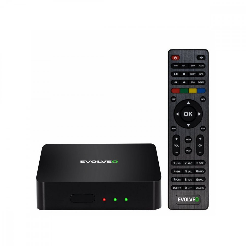 EVOLVEO HYBRID BOX T2 ANDROID  DVBT2 MULTIMEDIALNY CENTRUMUSBHDMIBTWiFi