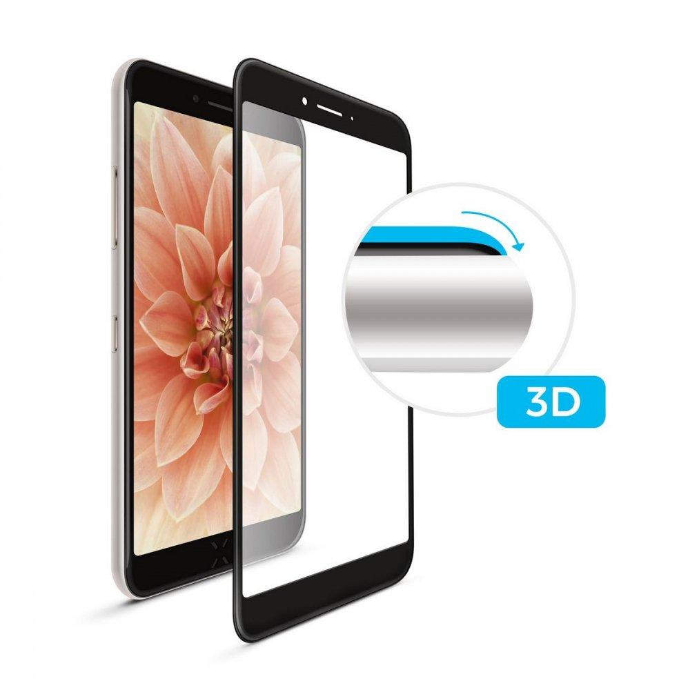 FIXED FIXG3D-230-033BK OCHRANNE TVRDENE SKLO 3D FULL-COVER PRE APPLE IPHONE X, CIERNE, 0.33 MM