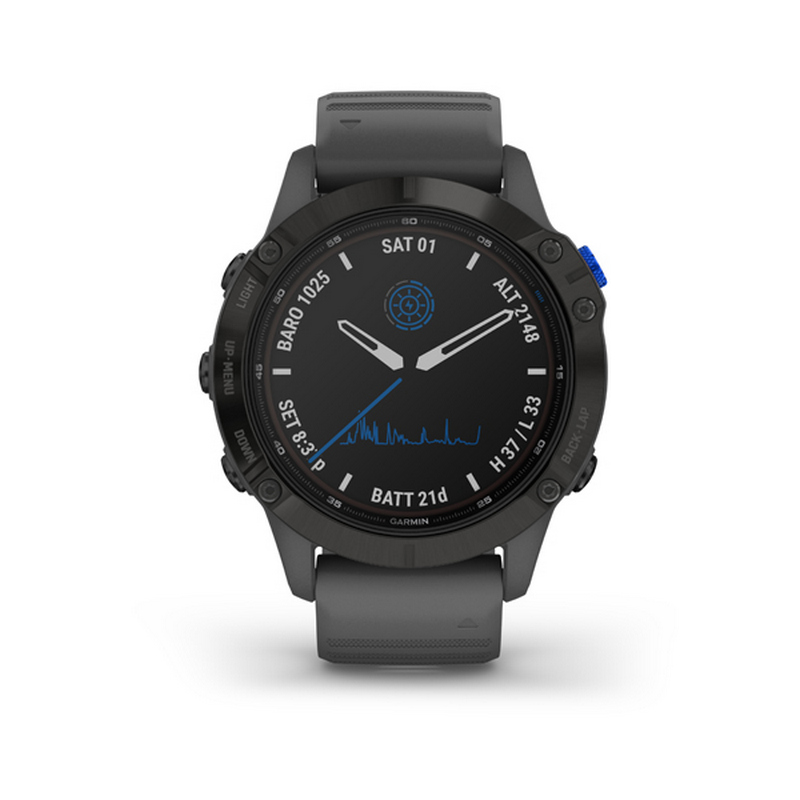 GARMIN FENIX 6 PRO SOLAR BLACK SLATE GRAY BAND 0100241011