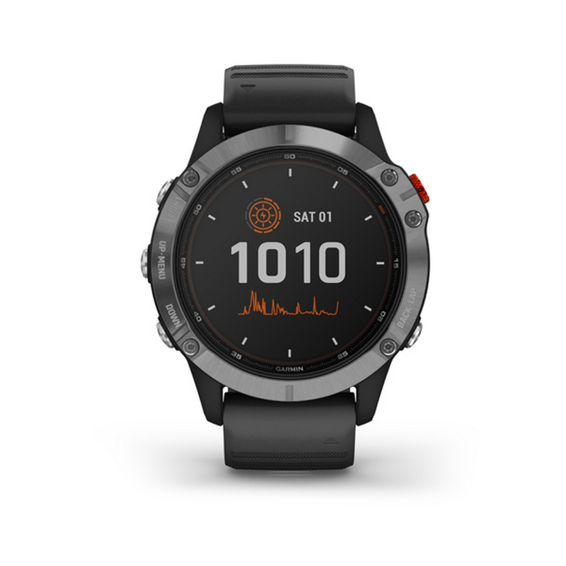 GARMIN FENIX 6 SOLAR SILVER BLACK BAND 0100241000