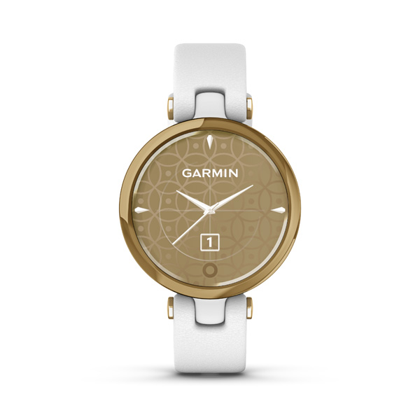 GARMIN LILY CLASSIC GOLDWHITE ITALIAN LEATHER 01002384B3