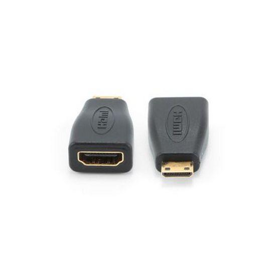 GEMBIRD KABEL REDUKCIA HDMI NA HDMI MINI-C, F/M, ZLACENE KONTAKTY, CIERNA, KAB051R003