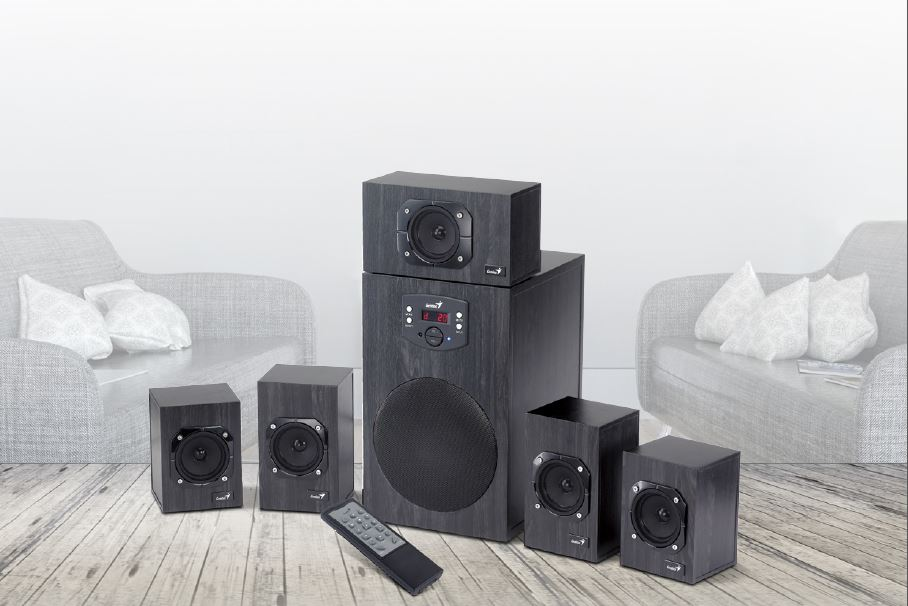 GENIUS REPRO DREVENE SW-HF 5.1 4500 V2, HOME THEATER, 125W RMS, DO