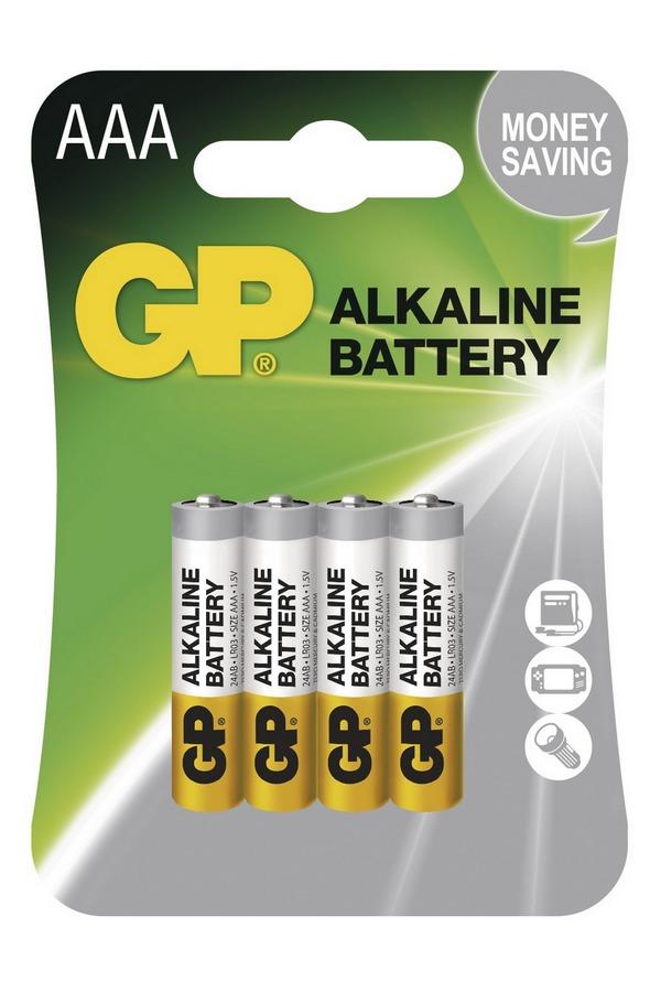 GP BAT. ALKALINE LR03 4BL, 4KS