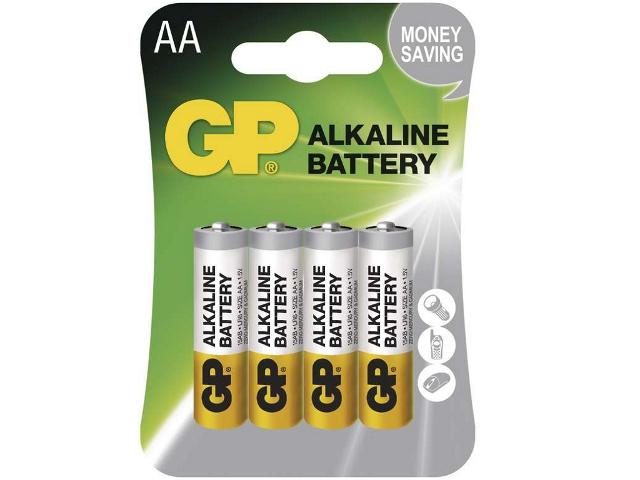 GP BAT. ALKALINE LR6 4BL, 4KS