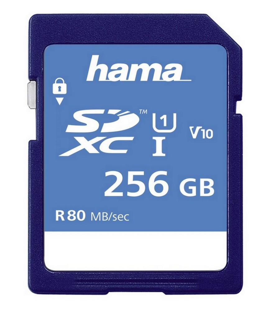 HAMA 123997 SDXC 256 GB CLASS 10, UHS-I 80 MB/S