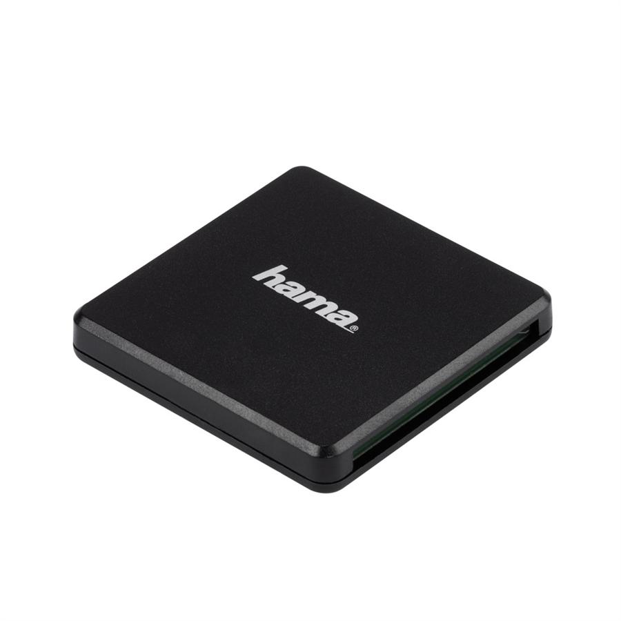 HAMA 124022 MULTI CITACKA KARIET USB 3.0, SD/MICROSD/CF, CIERNA