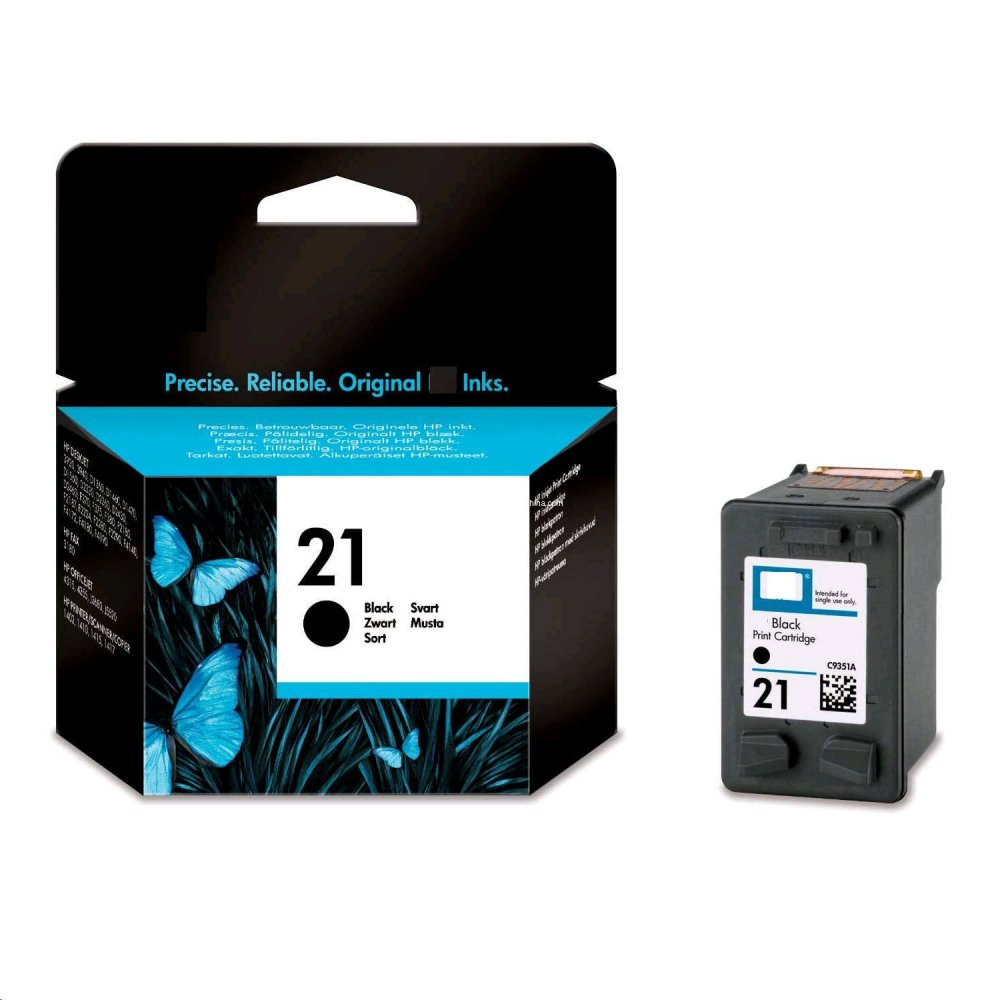 HP NO. 21 CIERNA INK. KAZETA, C9351AE