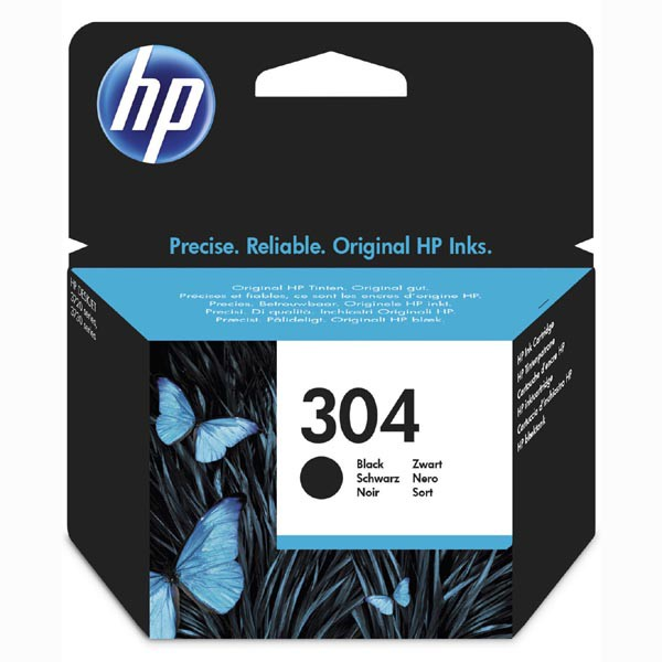 HP 304 ORIGINAL ATRAMENT N9K06AE, BLACK, 120 STRAN