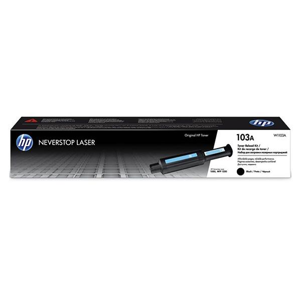 HP ORIGINAL NEVERSTOP TONER RELOAD KIT W1103A, BLACK, 2500STR., HP 103A, HP NEVERSTOP LASER MFP 1200