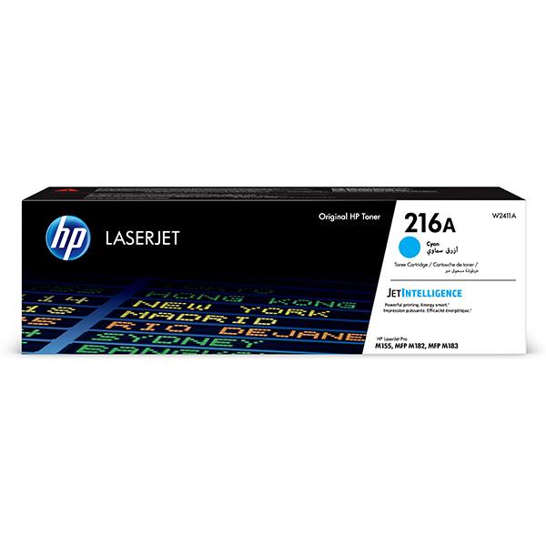 HP ORIGINAL TONER W2411A, CYAN, 850STR., HP 216A, HP COLOR LASERJET PRO M182 , M183