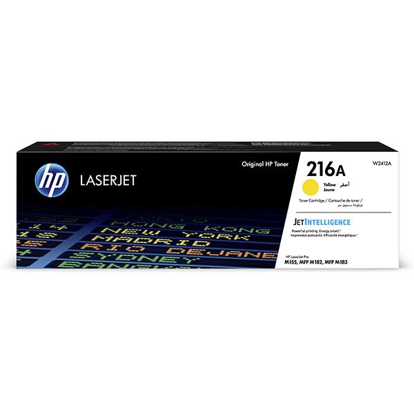 HP ORIGINAL TONER W2412A, YELLOW, 850STR., HP 216A, HP COLOR LASERJET PRO M182 , M183
