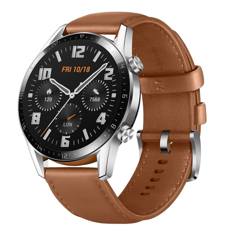 HUAWEI WATCH GT 2 CLASSIC 46MM BROWN LEATHER STRAP