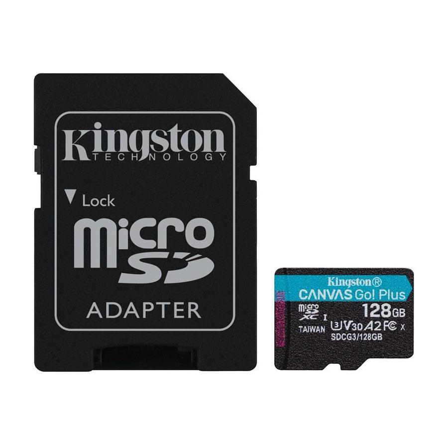 KINGSTON 128GB MICROSDXC CANVAS GO! PLUS A2 U3 V30 170MB/S + ADAPTER, SDCG3/128GB