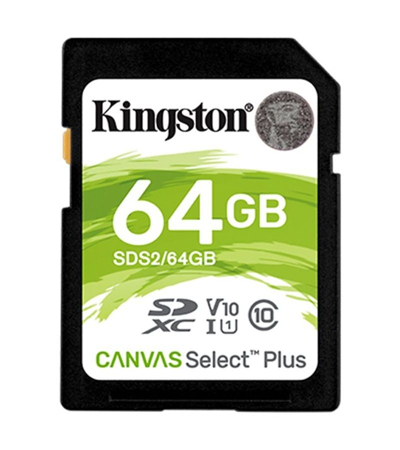 KINGSTON 64GB SDXC CANVAS SELECT PLUS U1 V10 CL10 100MB/S, SDS2/64GB