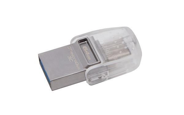 KINGSTON DATATRAVELER MICRODUO 3C 64GB USB 3.0/3.1 FLASHDISK