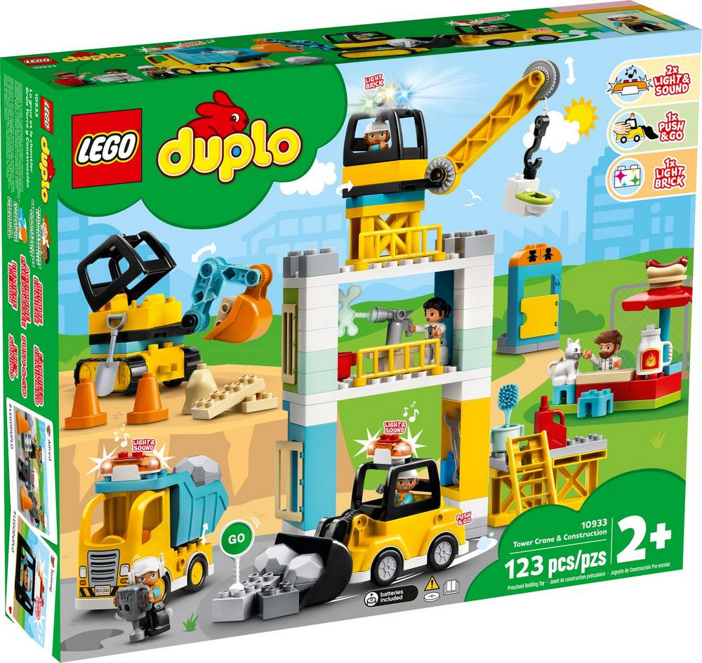 LEGO DUPLO TOWN STAVBA S VEZOVYM ZERIAVOM /10933/