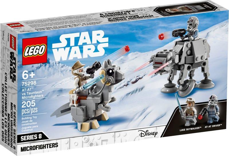 LEGO STAR WARS MIKROBOJOVNICI AT-AT VS TAUNTAUN /75298/