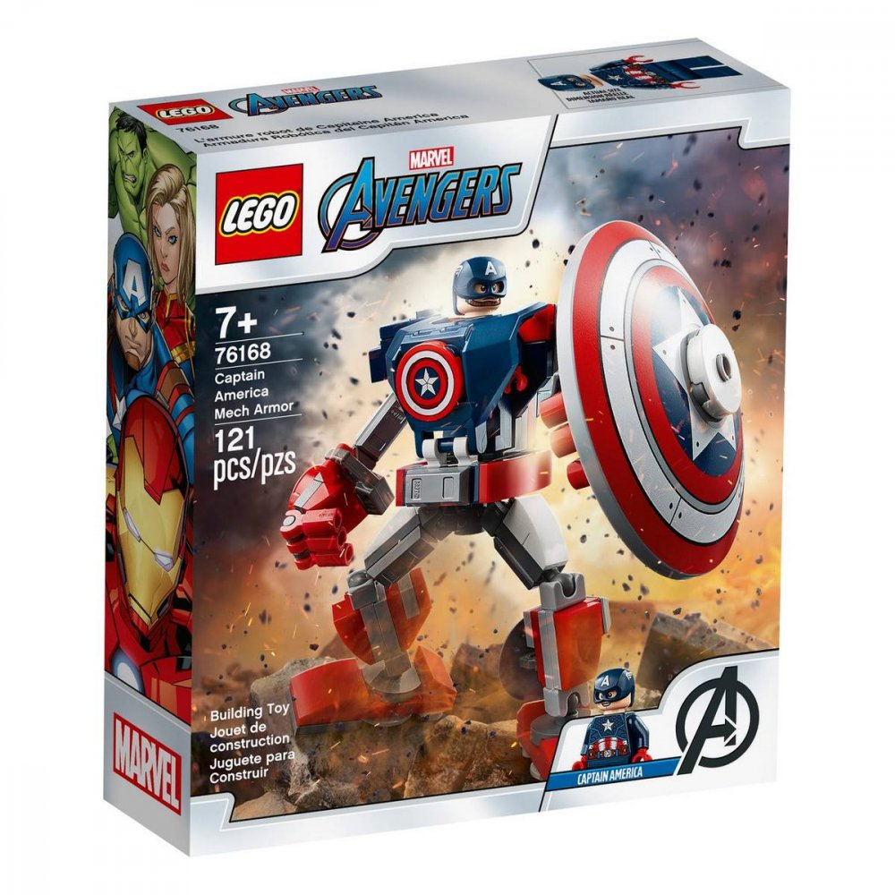 LEGO SUPER HEROES CAPTAIN AMERICA V OBRNENOM ROBOTOVI /76168/