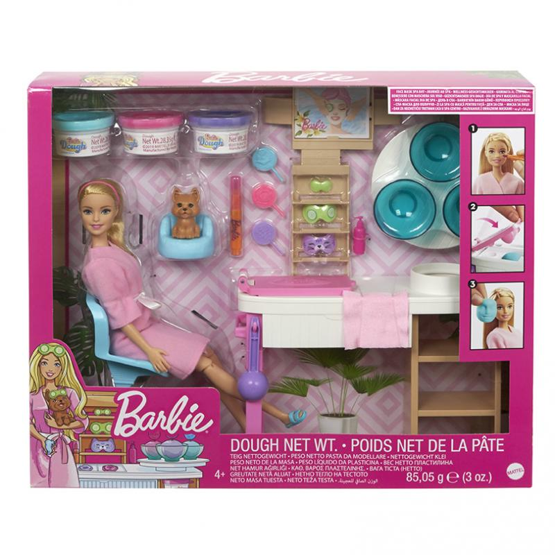 MATTEL BARBIE SALON KRASY HERNY SET S BELOSKOU GJR84
