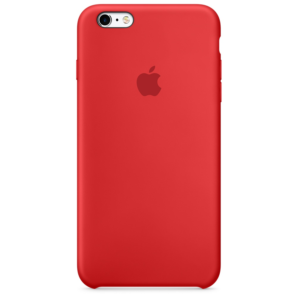 APPLE IPHONE 6S PLUS SILICONE CASE - (PRODUCT)RED MKXM2ZM/A