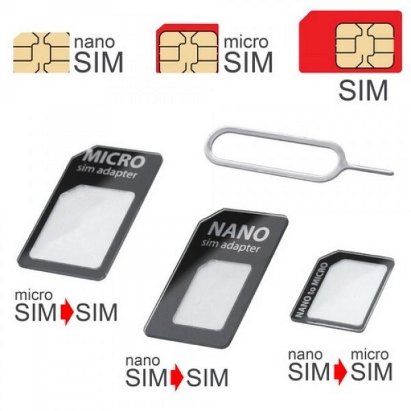 MOBILNET DAD-0104-SIM-3V1XX CIERNY SIM ADAPTER 3V1 (NANOSIM, MICROSIM, SIM)