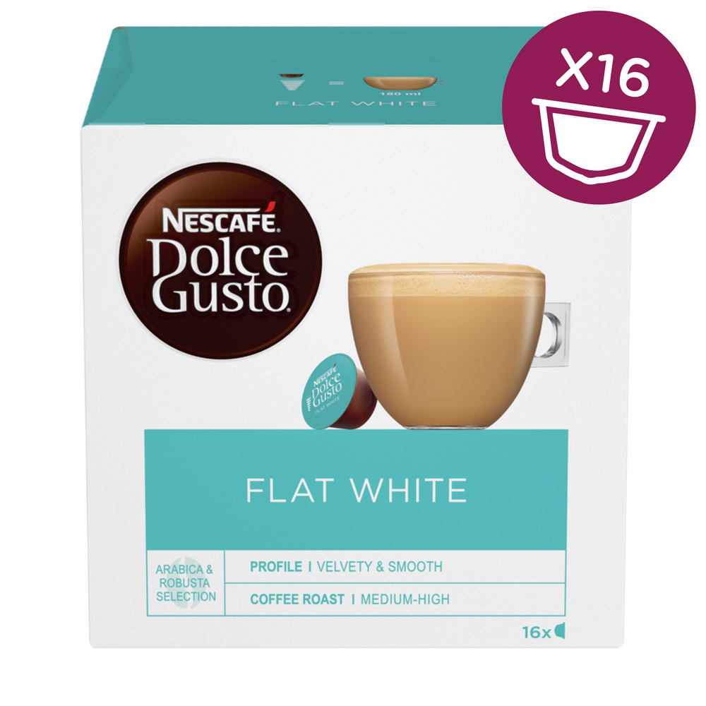 NESCAFE DOLCE GUSTO FLAT WHITE 16KS