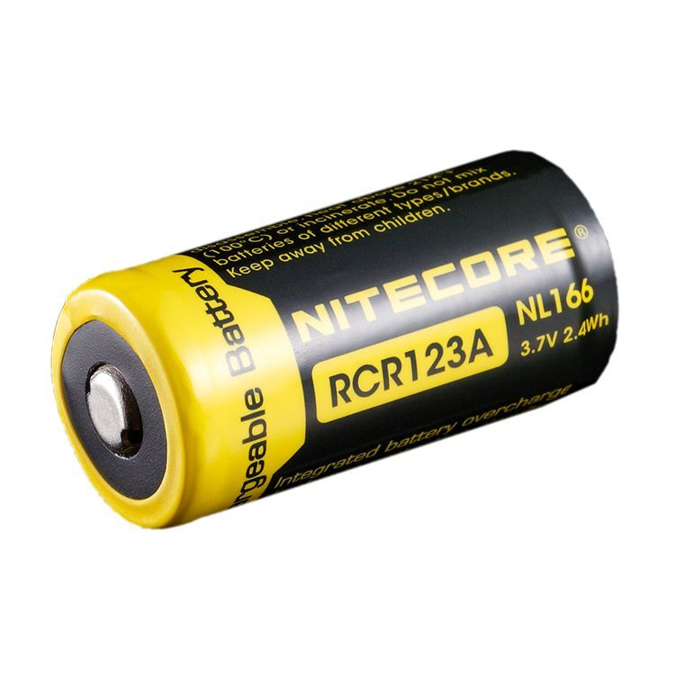 NITECORE NL166 RCR123A NABIJACIA BATERIA 3,7 V, 650 MAH