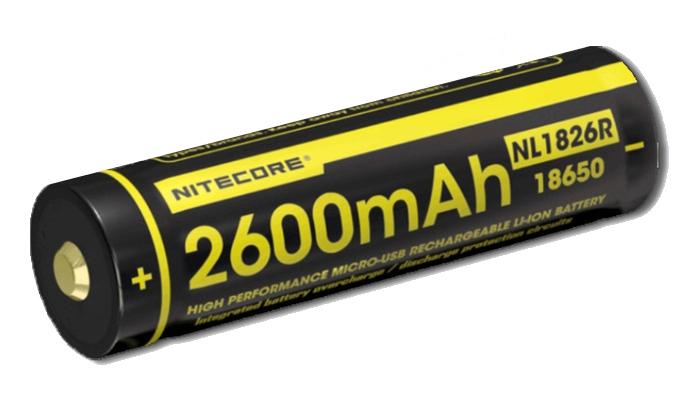 NITECORE NL1826R NABIJACIA BATERIA USB (2600MAH)