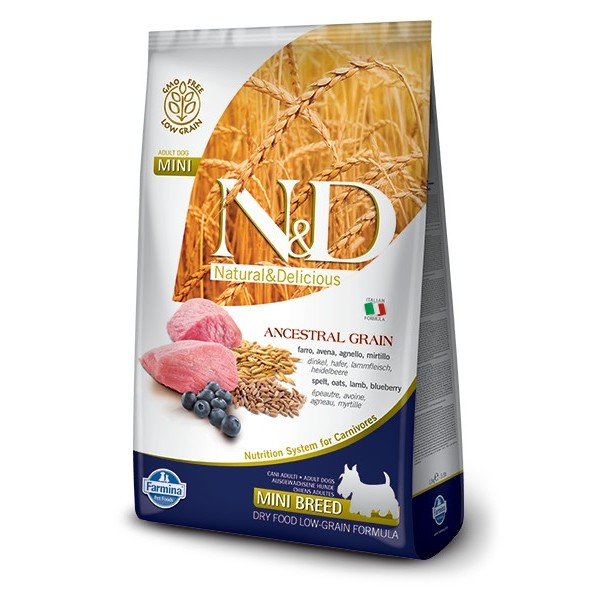 N&D LOW GRAIN ADULT MINI L&SP&OA&B 2,5KG JAHNA&PSEN&OVOS&CUC