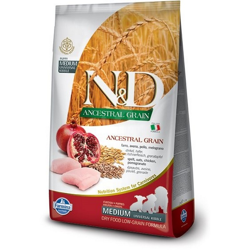 N&D LOW GRAIN PUPPY CH&P 2,5KG KURA&GRANATOVE JABLKO
