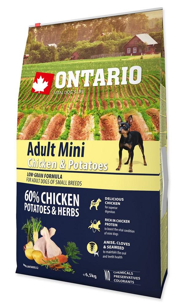 ONTARIO DOG ADULT MINI CHICKEN & POTATOES & HERBS (6,5KG)