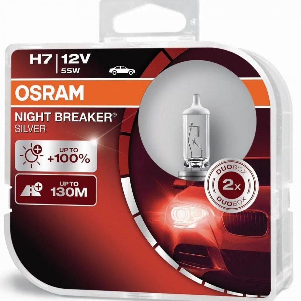 OSRAM H7 NIGHT BREAKER SILVER COOL BLUE AUTOZIAROVKA C2607.7