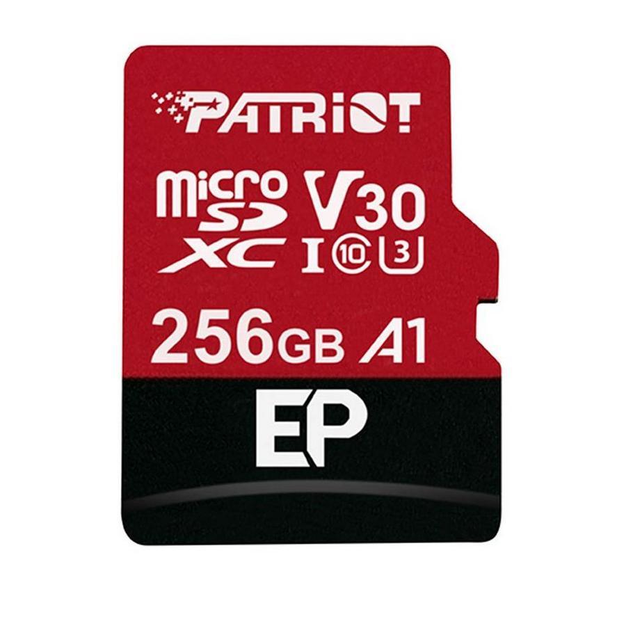 PATRIOT 256GB MICROSDXC V30 A1, CLASS 10 U3 100/80MB/S + ADAPTER, PEF256GEP31MCX