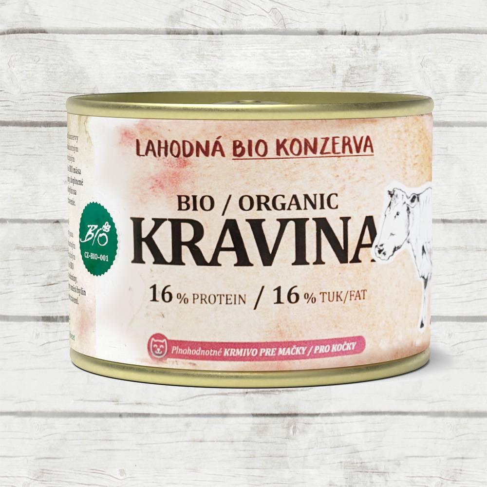PET FARM KONZERVY PRE MACKY KRAVINA BIO180G / HOVADZIE