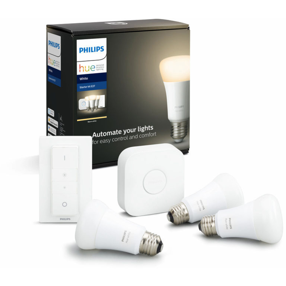 PHILIPS HUE WHITE 9W E27 A19 START KITBT