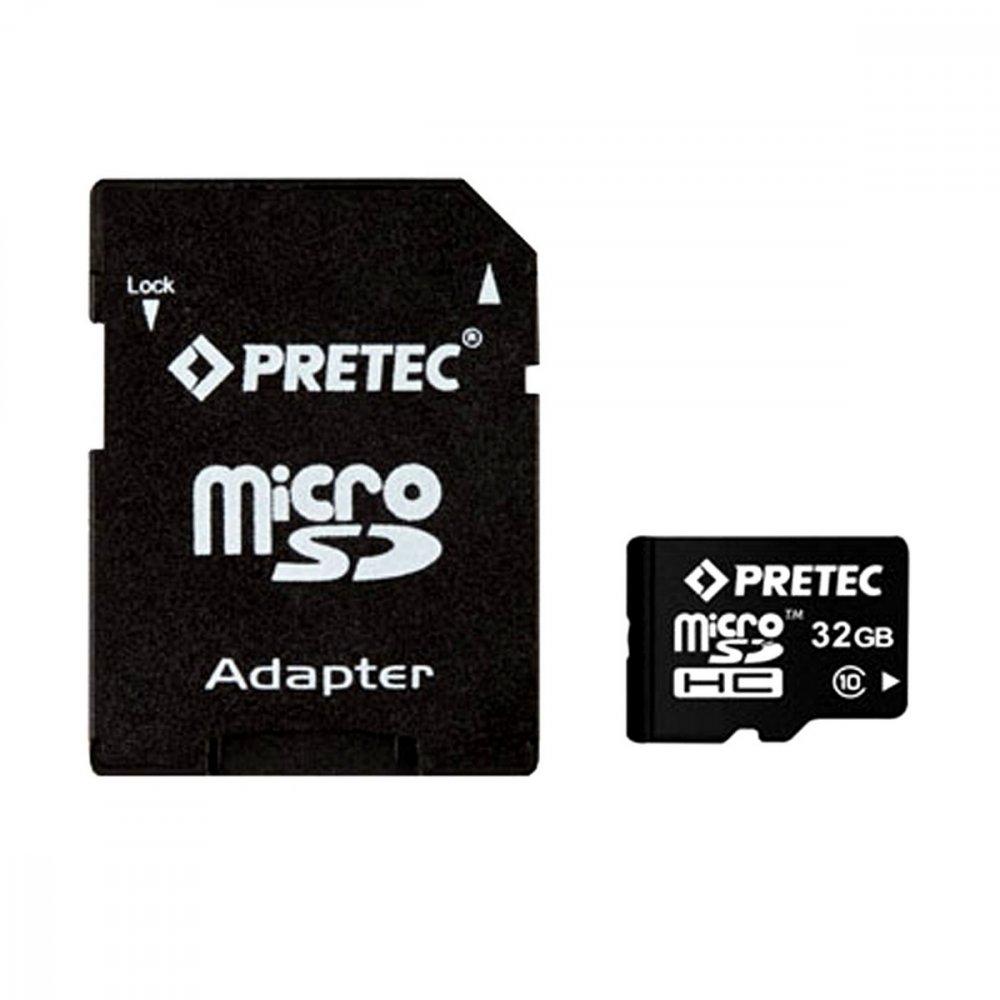 PRETEC MICROSDHC 32 GB CLASS 10 + SD ADAPTER