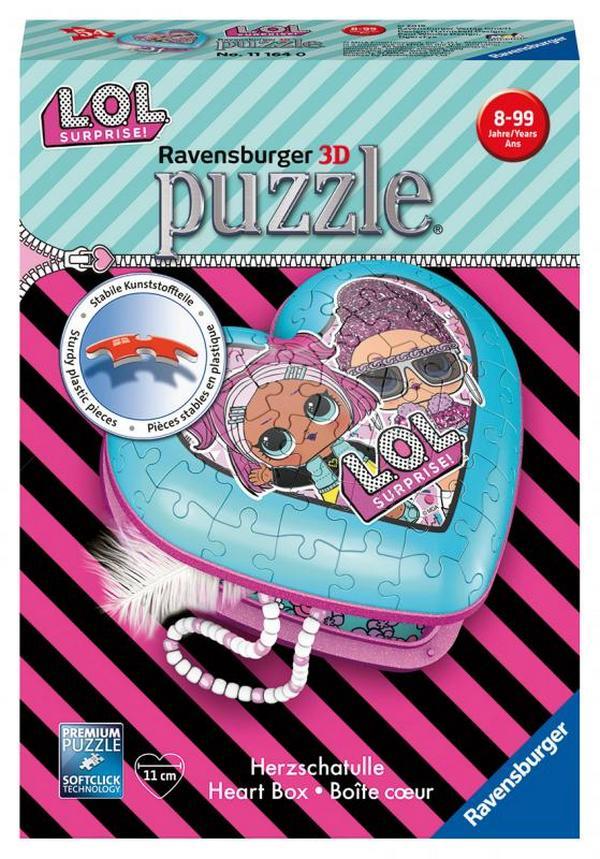 RAVENSBURGER 3D PUZZLE 111640 SRDCE L.O.L. /2411164/